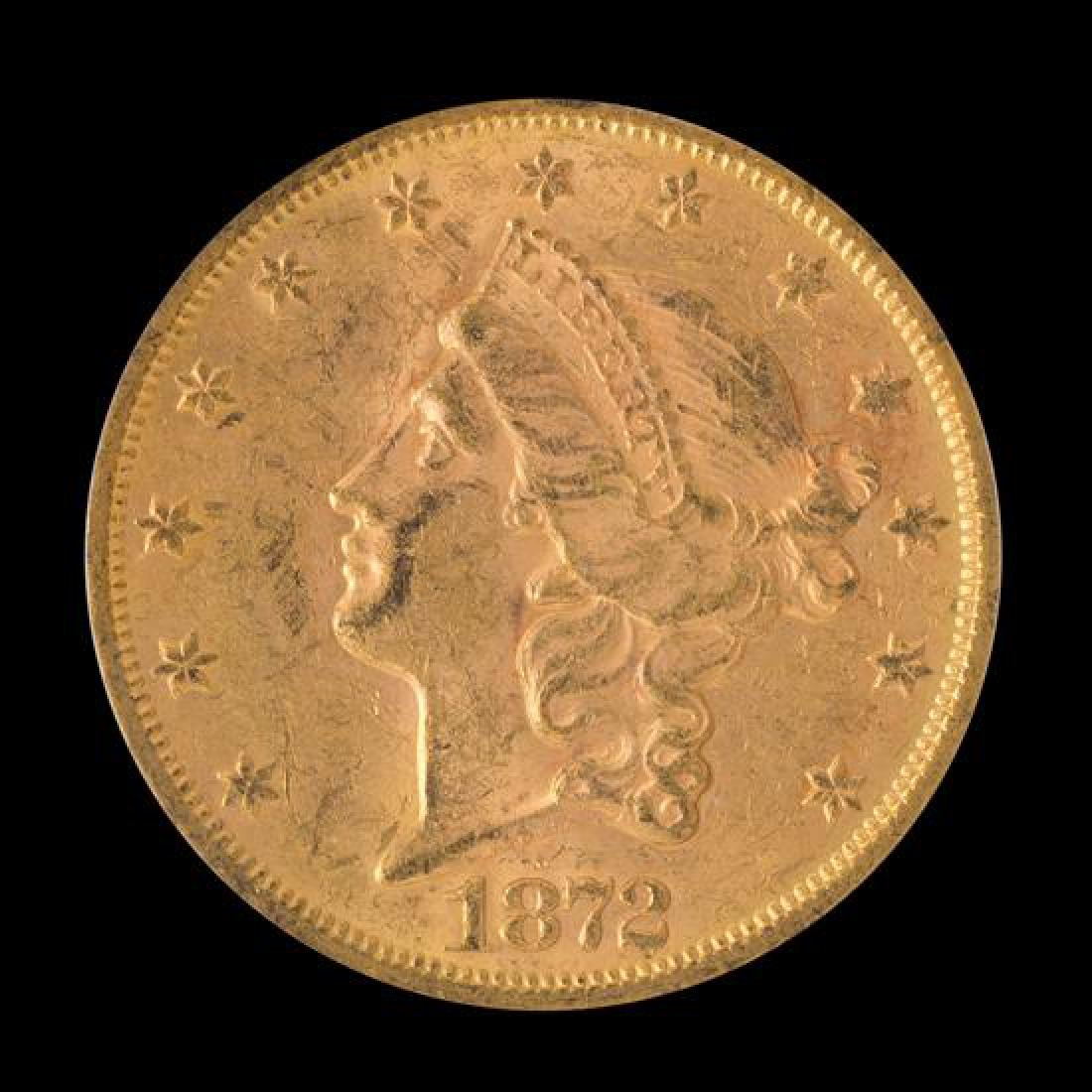A United States 1872-S Liberty Head $20 Gold Coin