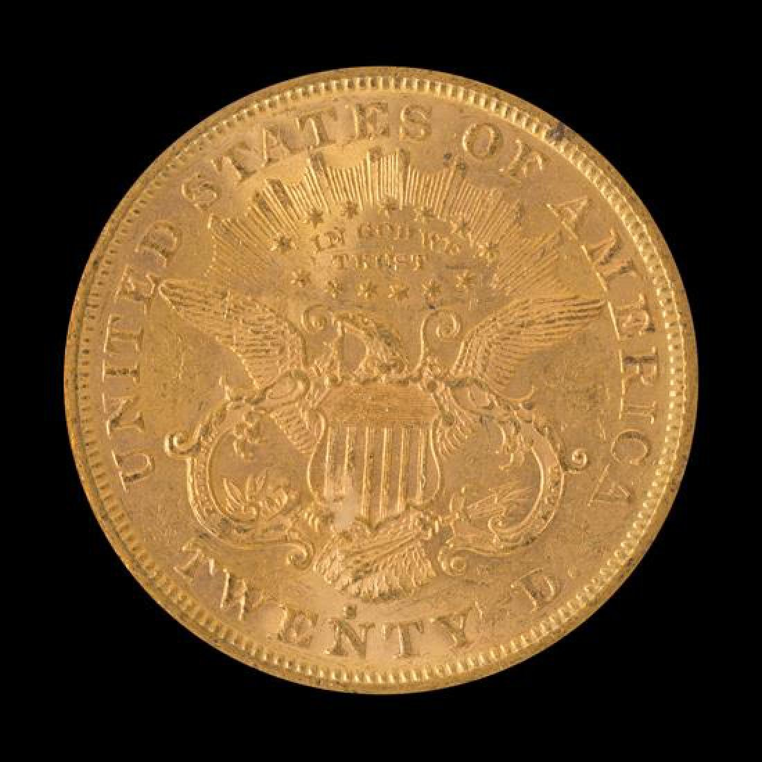 A United States 1872-S Liberty Head $20 Gold Coin - 2