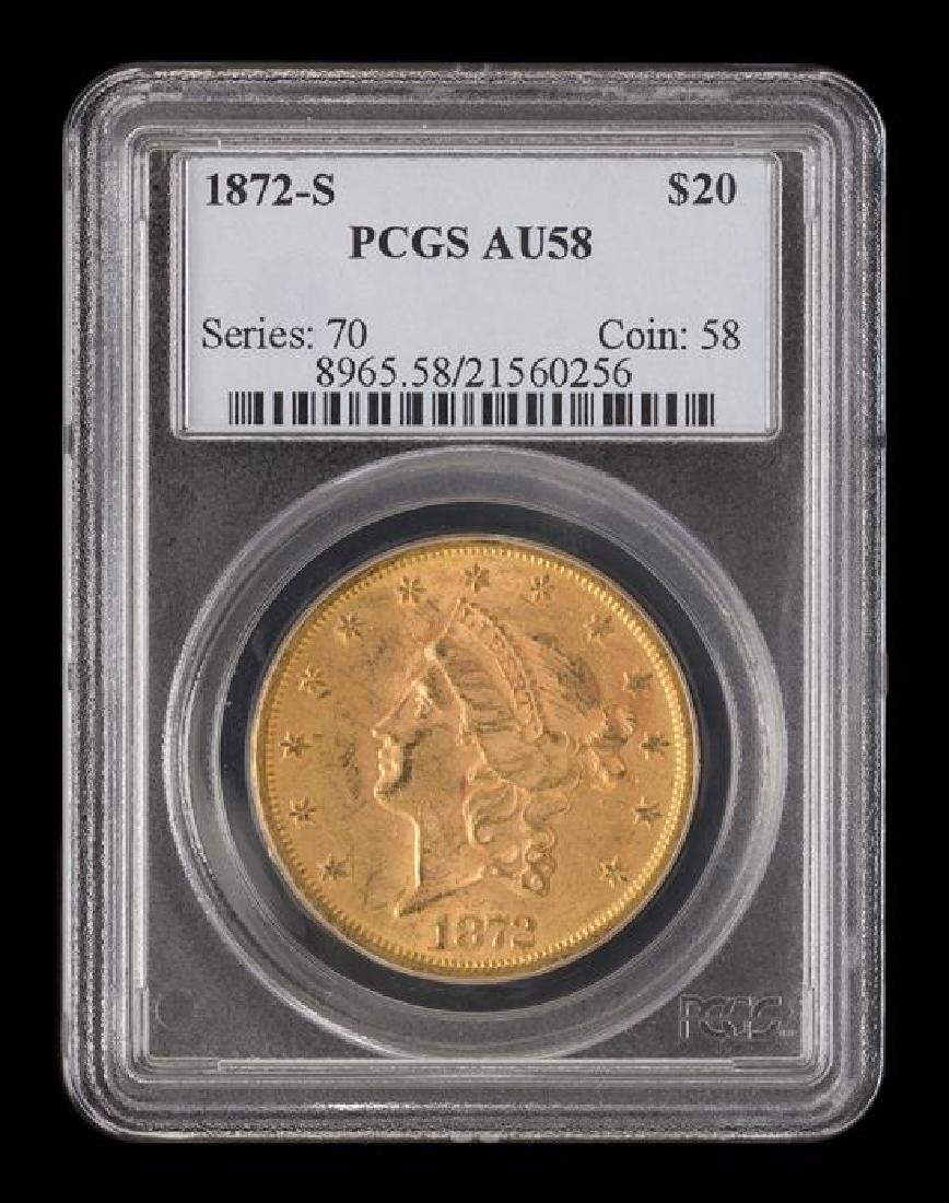 A United States 1872-S Liberty Head $20 Gold Coin - 3