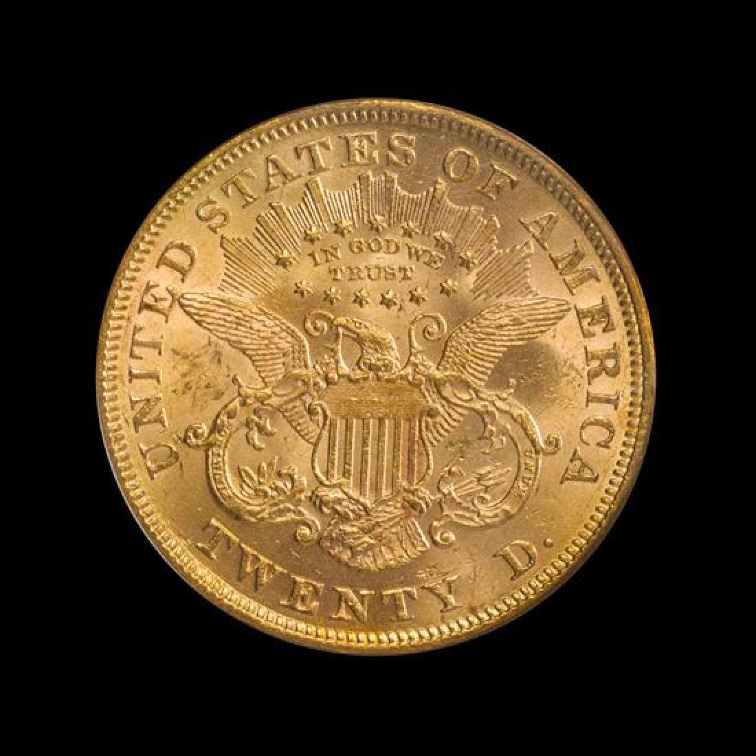 A United States 1875 Liberty Head $20 Gold Coin - 2