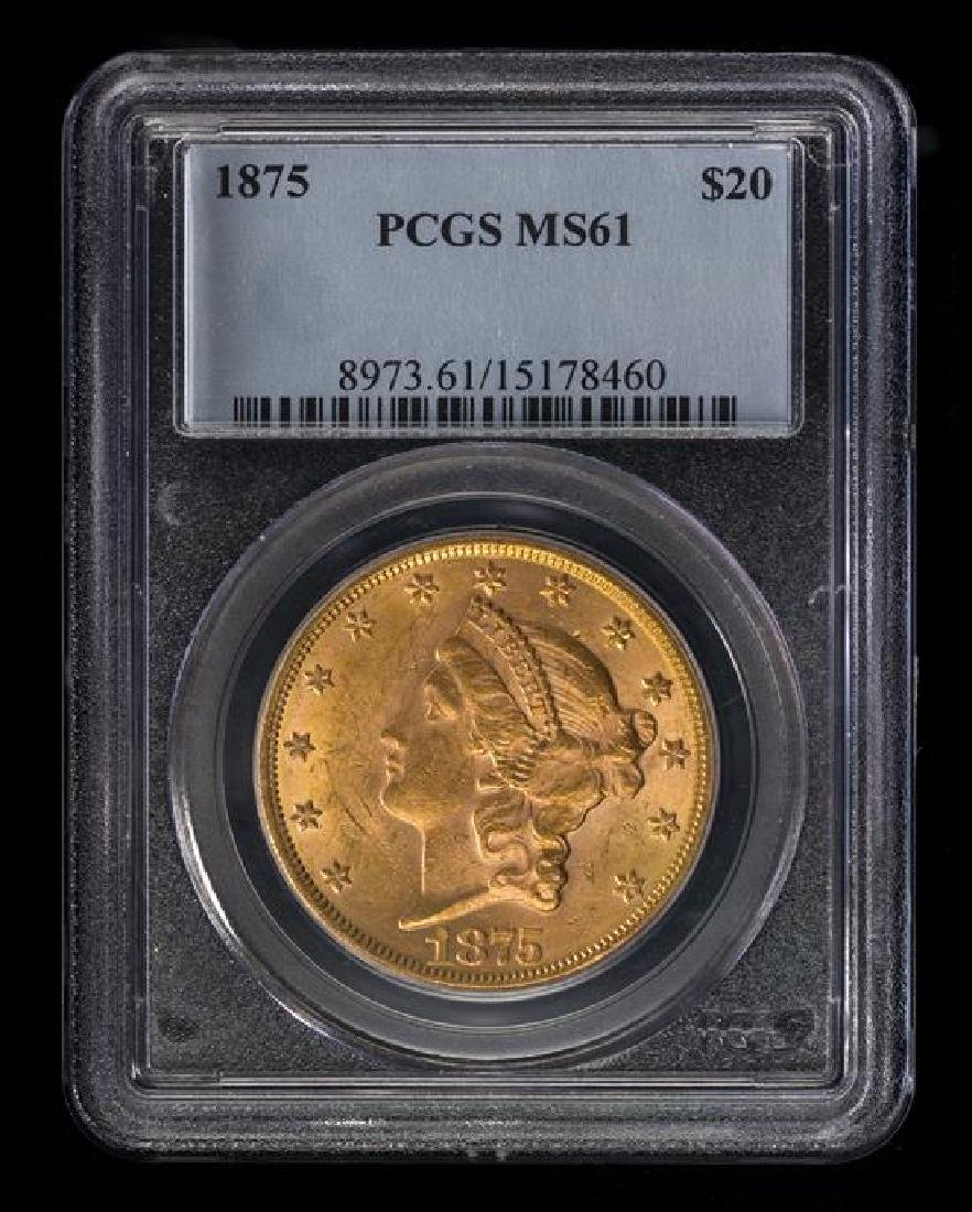 A United States 1875 Liberty Head $20 Gold Coin - 3