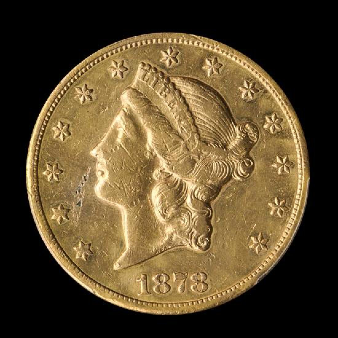A United States 1878-CC Liberty Head $20 Gold Coin