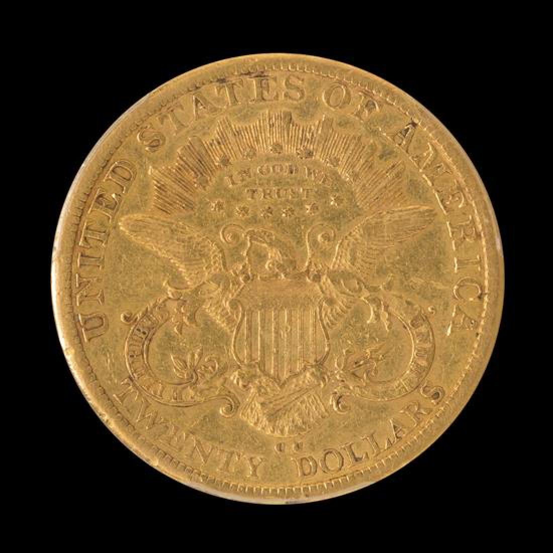 A United States 1878-CC Liberty Head $20 Gold Coin - 2