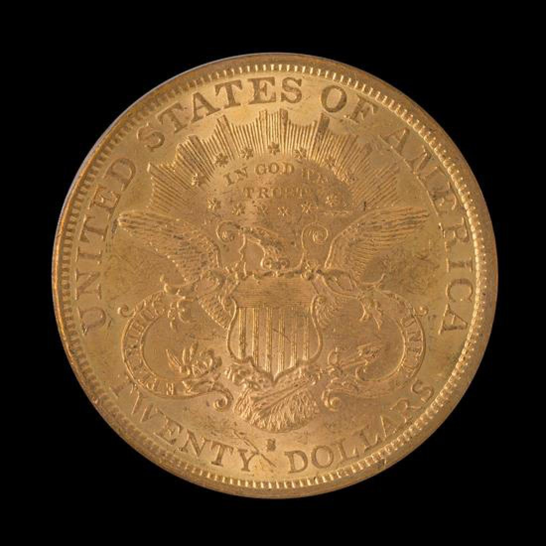 A United States 1878-S Liberty Head $20 Gold Coin - 2