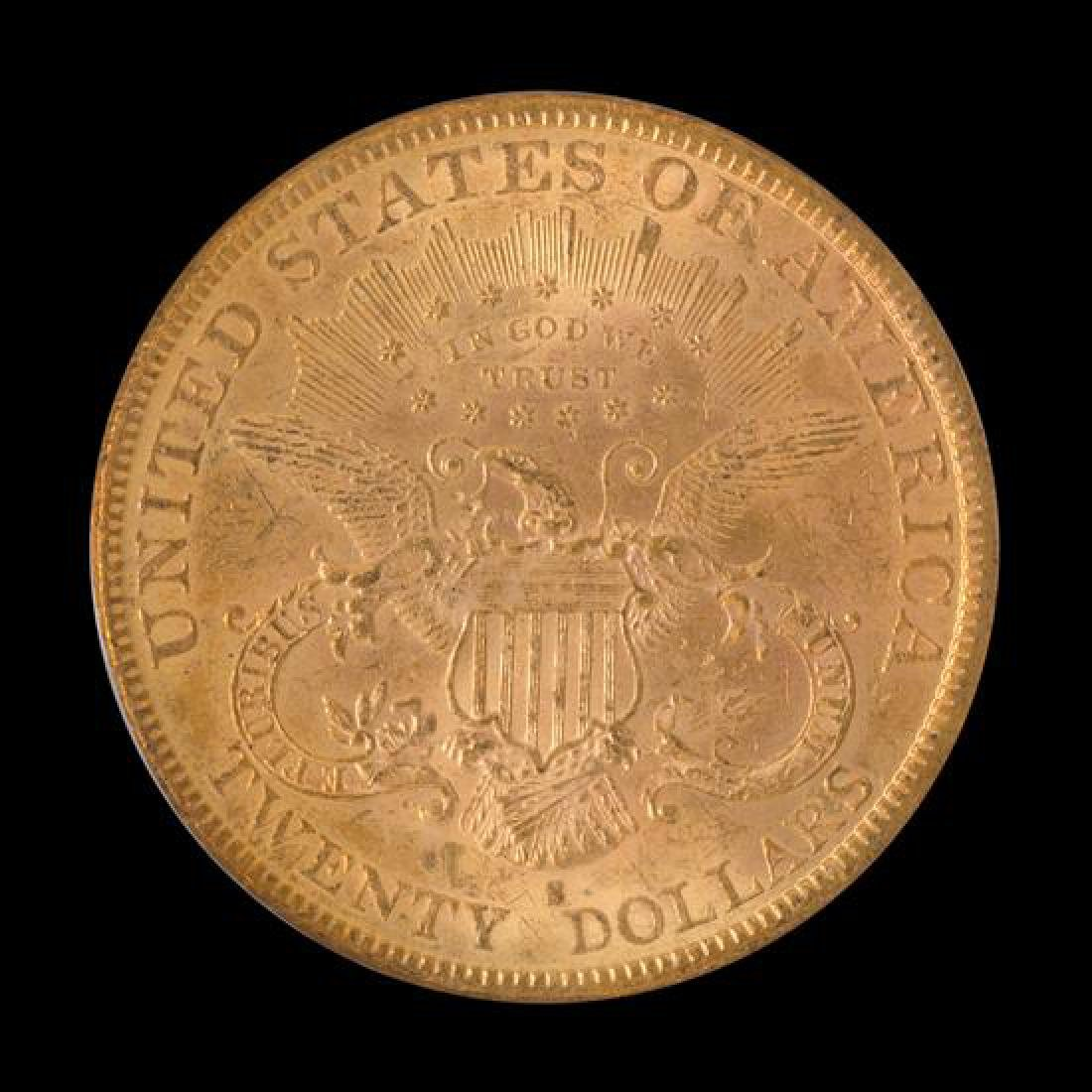 A United States 1882-S Liberty Head $20 Gold Coin - 2