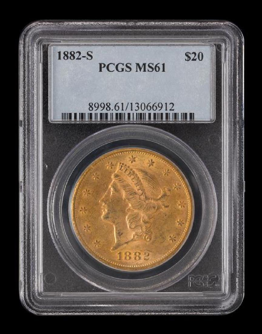 A United States 1882-S Liberty Head $20 Gold Coin - 3