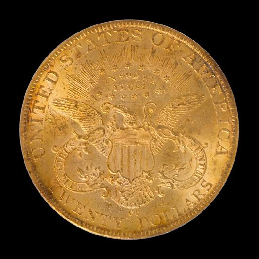 A United States 1884-CC Liberty Head $20 Gold Coin - 2