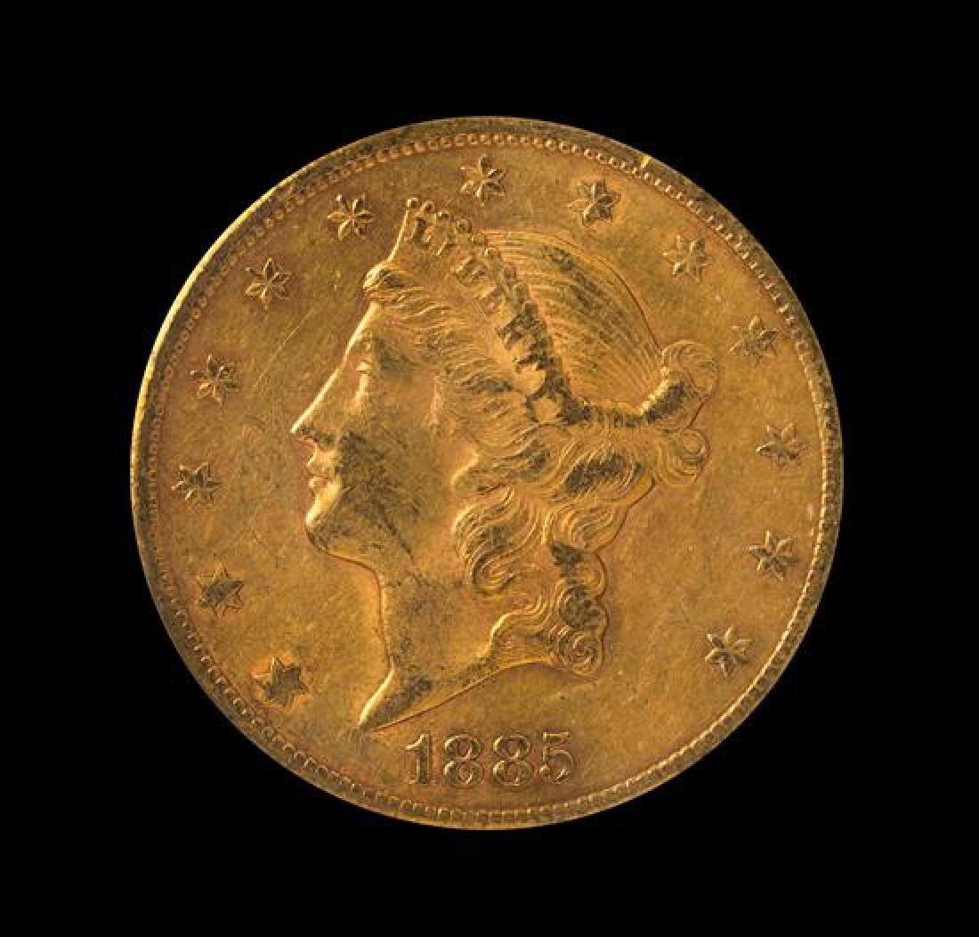 1885-CC Liberty Head $20 Gold Coin