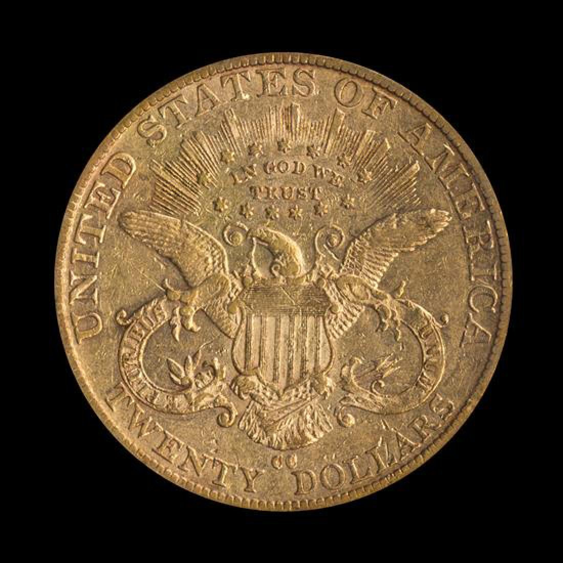 A United States 1889-CC Liberty Head $20 Gold Coin - 2