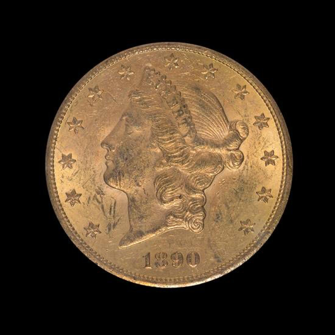 A United States 1890-CC Liberty Head $20 Gold Coin