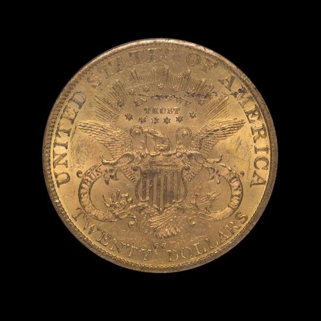 A United States 1890-CC Liberty Head $20 Gold Coin - 2