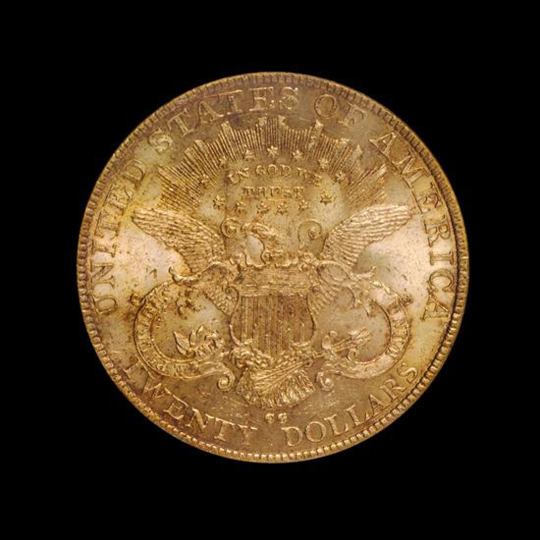 A United States 1892-CC Liberty Head $20 Gold Coin - 2