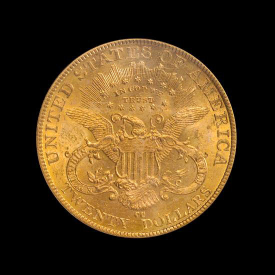 A United States 1893-CC Liberty Head $20 Gold Coin - 2