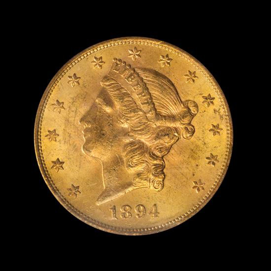 A United States 1894-S Liberty Head $20 Gold Coin