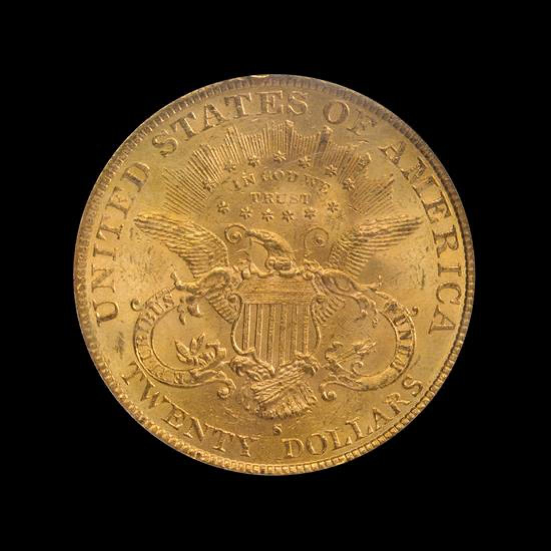 A United States 1894-S Liberty Head $20 Gold Coin - 2
