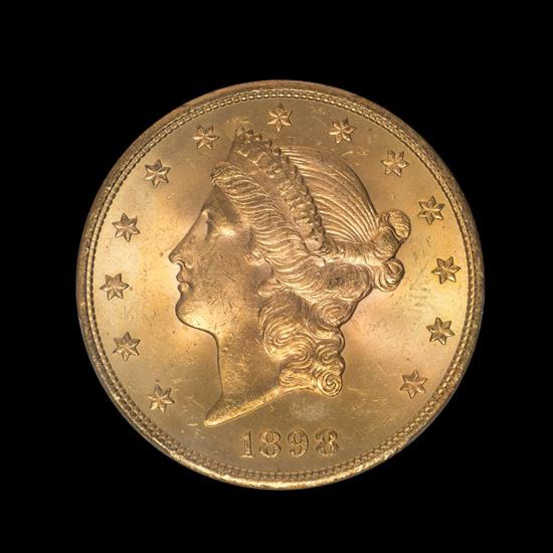 A United States 1898-S Liberty Head $20 Gold Coin