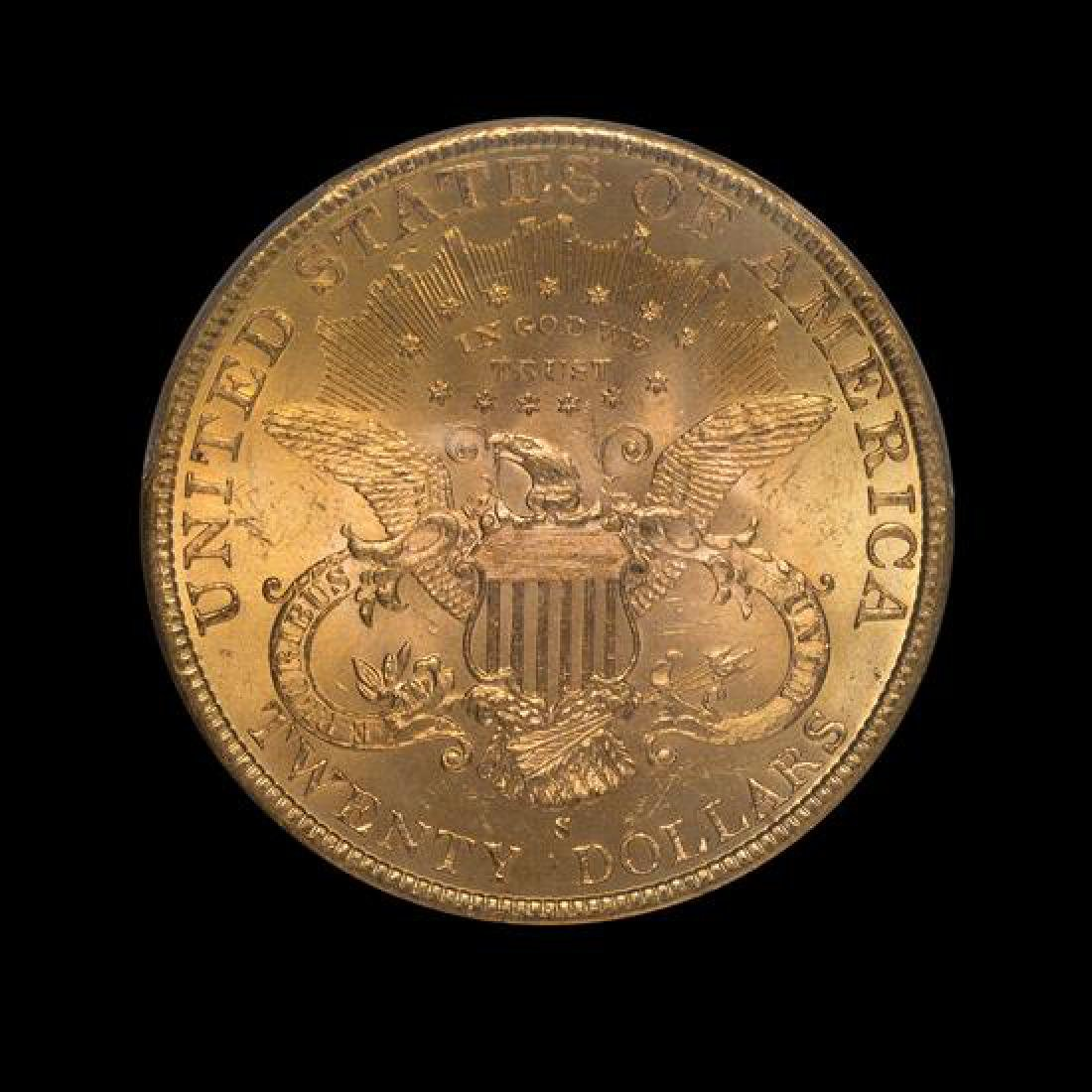 A United States 1898-S Liberty Head $20 Gold Coin - 2