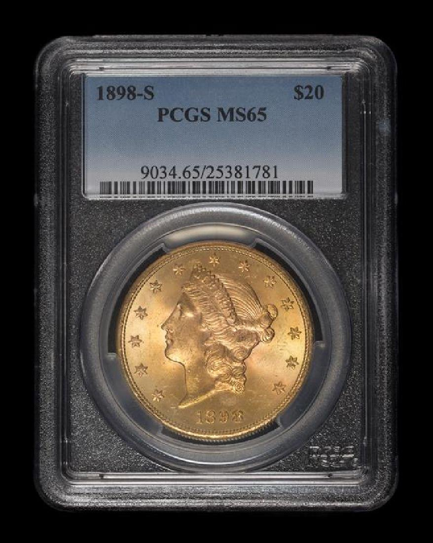 A United States 1898-S Liberty Head $20 Gold Coin - 3