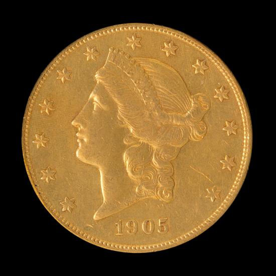 A United States 1905-S Liberty Head $20 Gold Coin