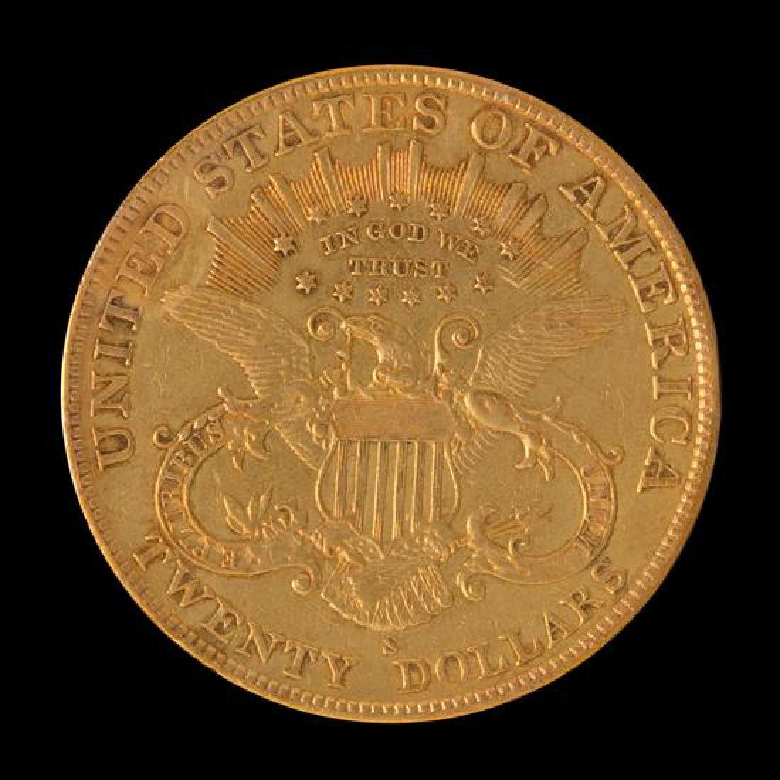 A United States 1905-S Liberty Head $20 Gold Coin - 2
