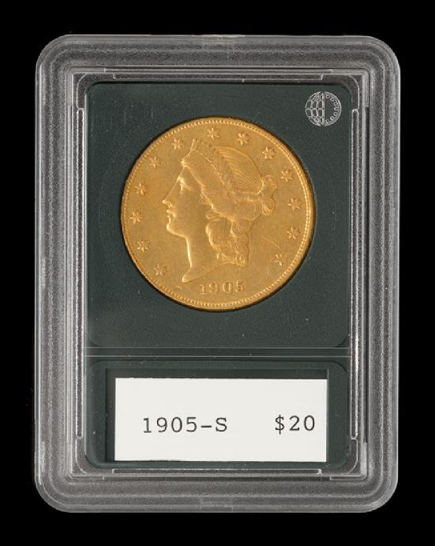 A United States 1905-S Liberty Head $20 Gold Coin - 3