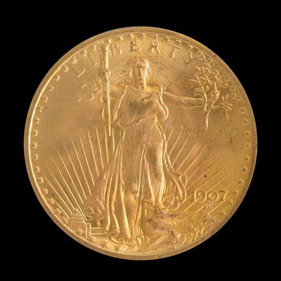 A United States 1907 Saint-Gaudens $20 Gold Coin