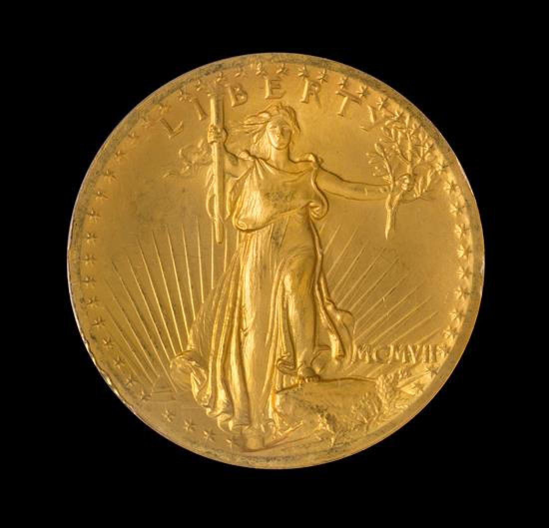 1907 Saint-Gaudens: High Relief-Wire Edge $20 Gold Coin