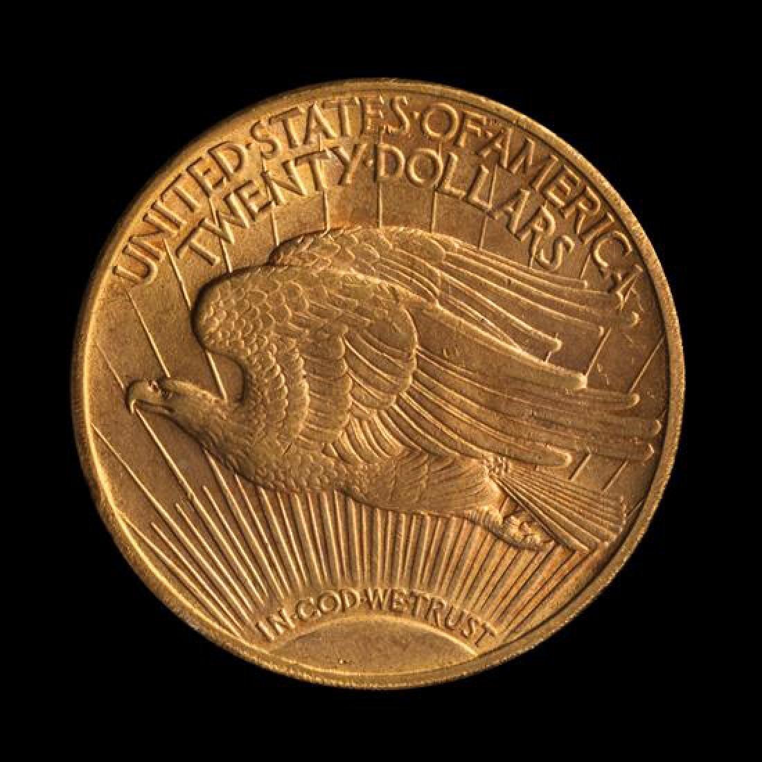 A United States 1908-D Saint-Gaudens: Motto $20 Gold - 2
