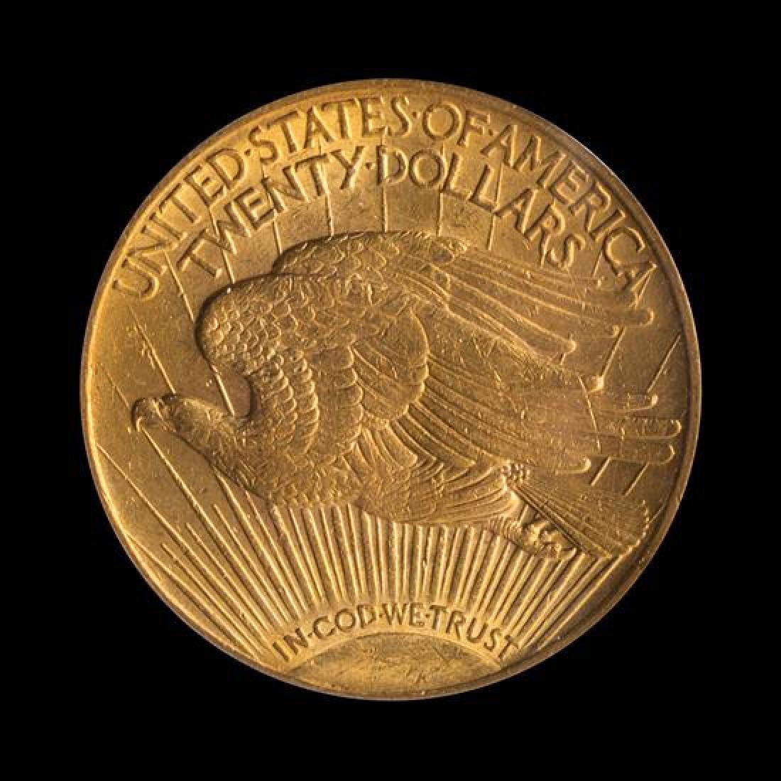 A United States 1909 Saint-Gaudens $20 Gold Coin - 2