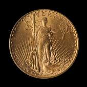 A United States 1909S SaintGaudens 20 Gold Coin