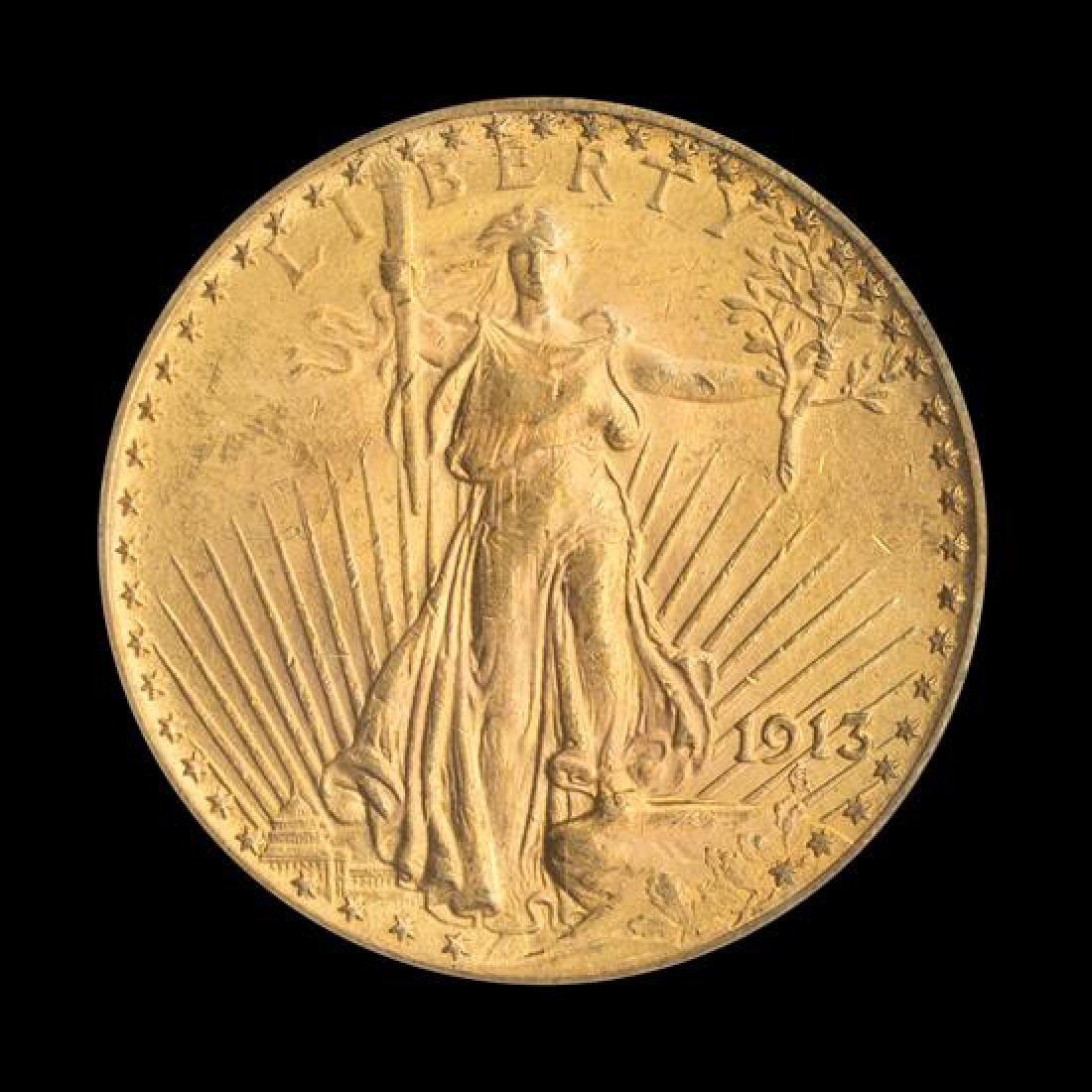 A United States 1913 Saint-Gaudens $20 Gold Coin