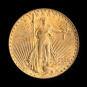 A United States 1915S SaintGaudens 20 Gold Coin