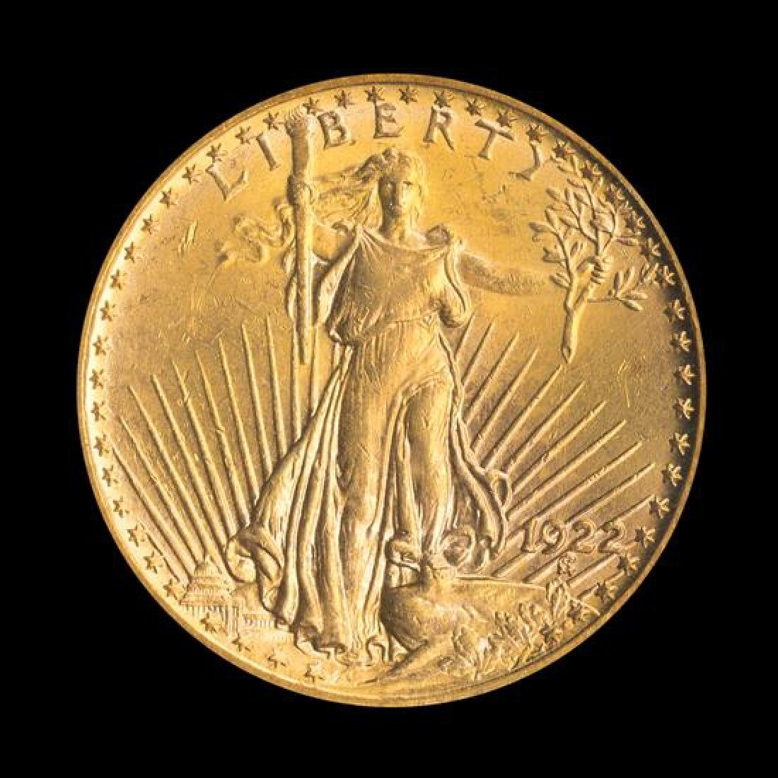 A United States 1922 Saint-Gaudens $20 Gold Coin