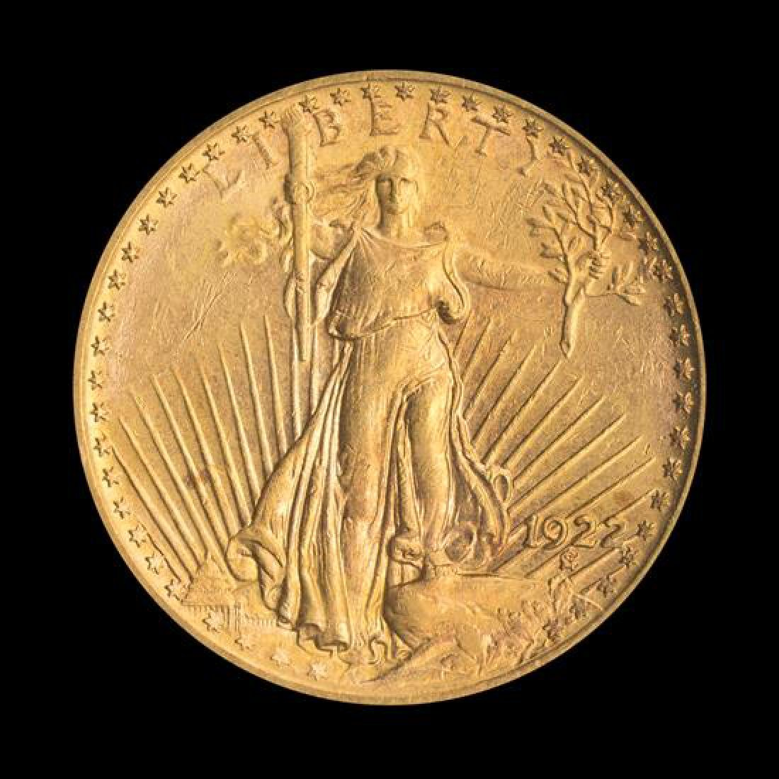A United States 1922 Saint-Gaudens $20 Gold Coin