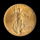 A United States 1922S SaintGaudens 20 Gold Coin