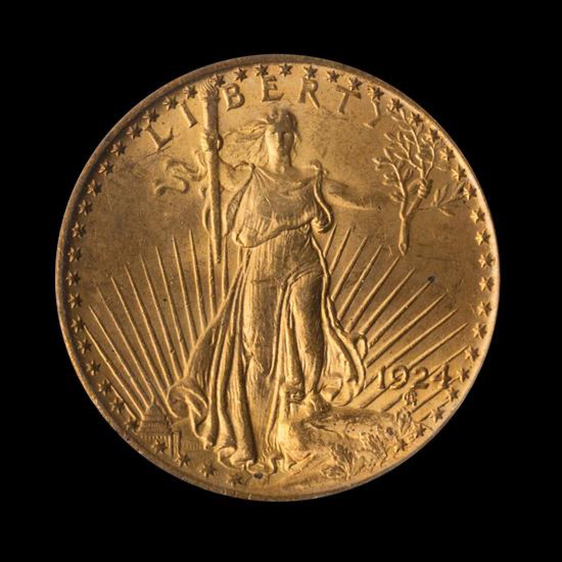 A United States 1924 Saint-Gaudens $20 Gold Coin