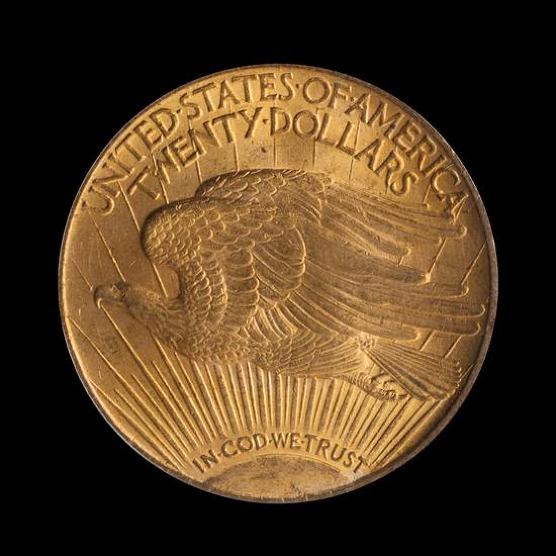 A United States 1924 Saint-Gaudens $20 Gold Coin - 2