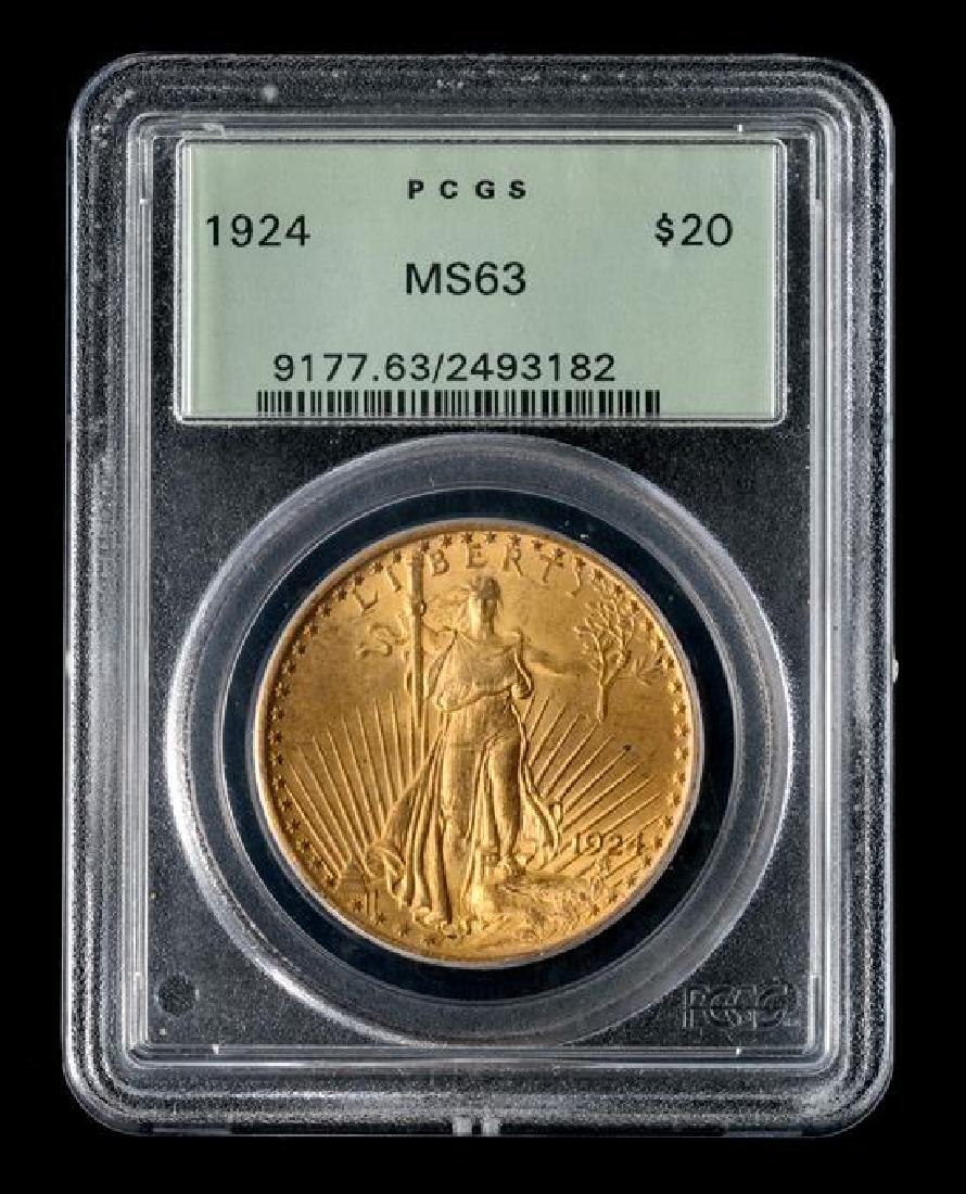 A United States 1924 Saint-Gaudens $20 Gold Coin - 3