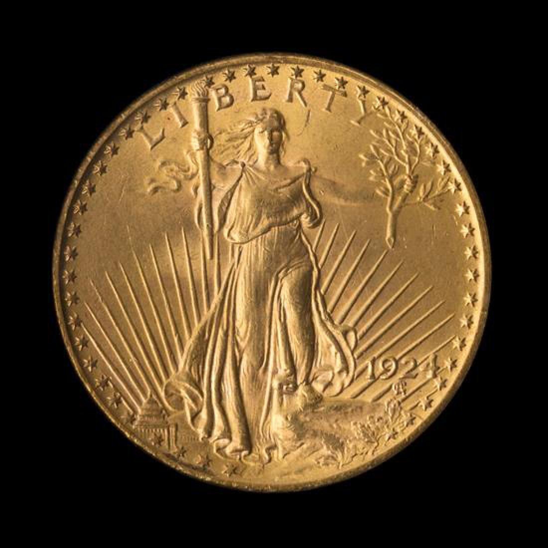 A United States 1924 Saint-Gaudens $20 Gold Coin