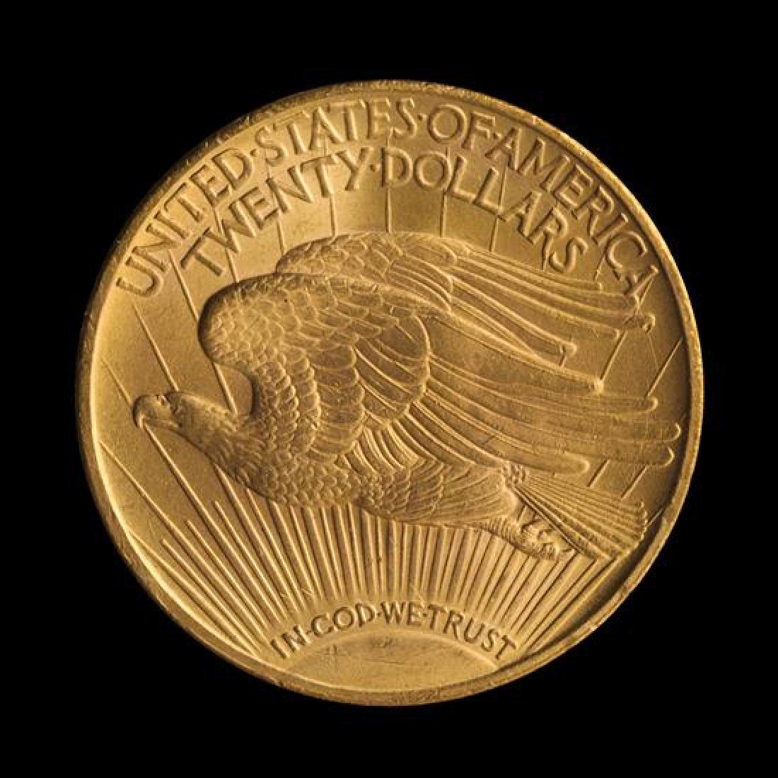 A United States 1924 Saint-Gaudens $20 Gold Coin - 2