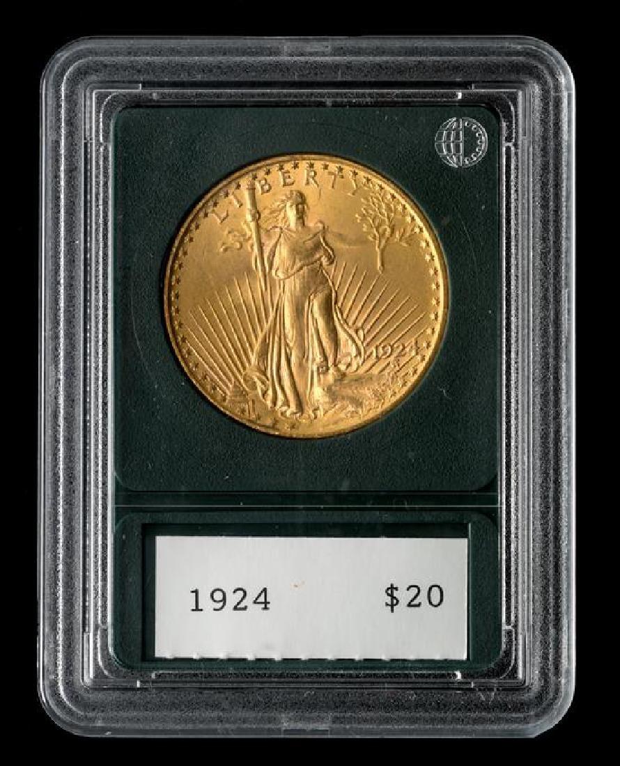 A United States 1924 Saint-Gaudens $20 Gold Coin - 3