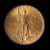 A United States 1924S SaintGaudens 20 Gold Coin