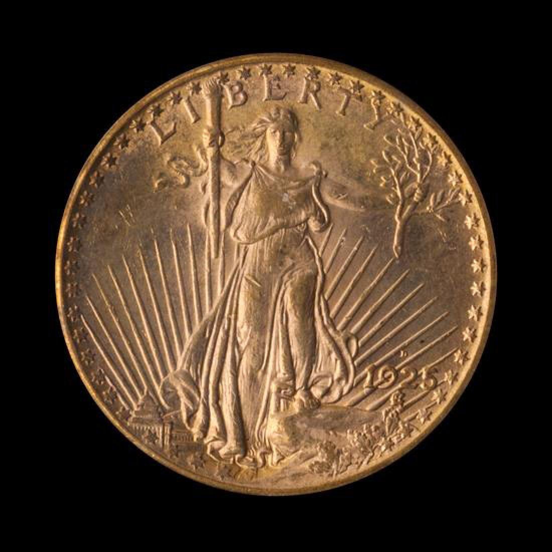 A United States 1925-D Saint-Gaudens $20 Gold Coin