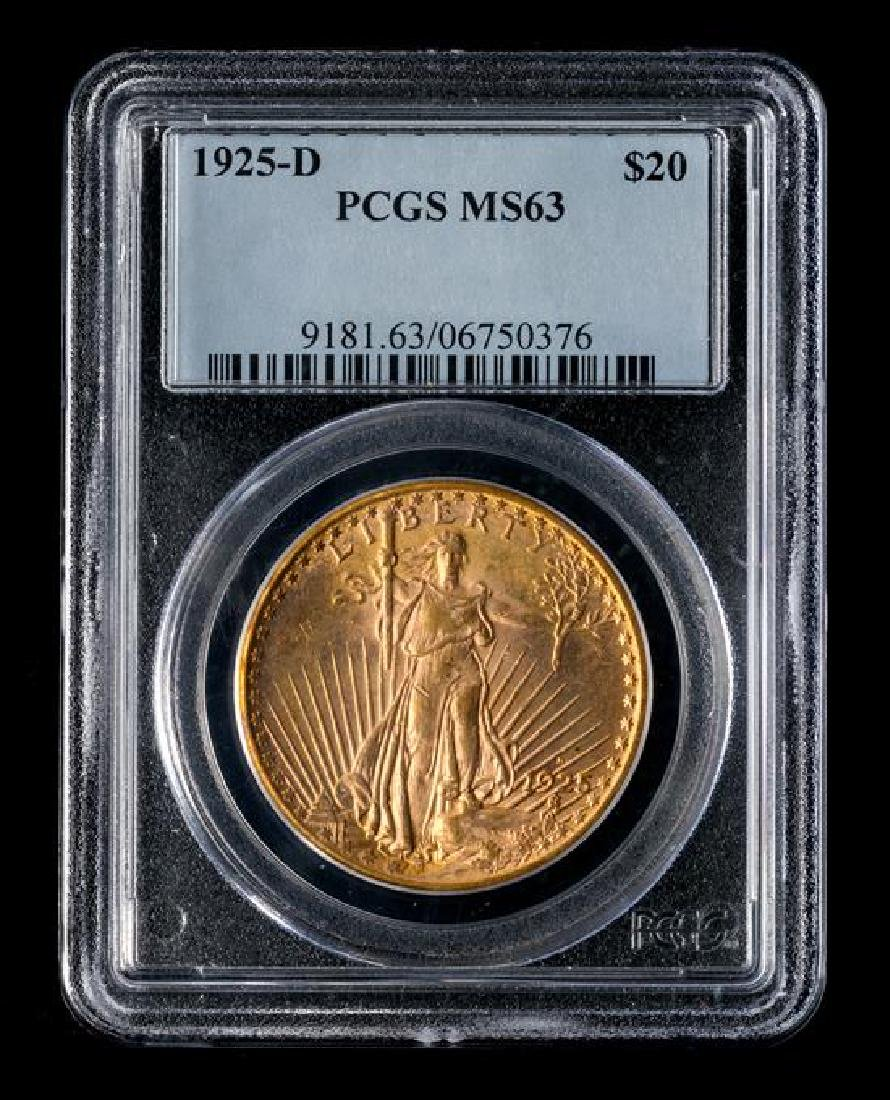 A United States 1925-D Saint-Gaudens $20 Gold Coin - 3