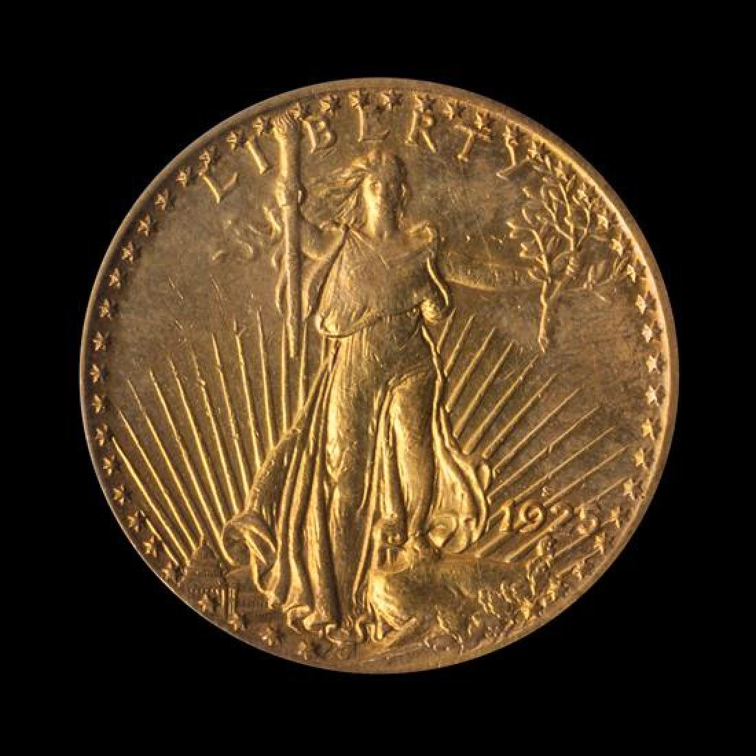 A United States 1925-S Saint-Gaudens $20 Gold Coin