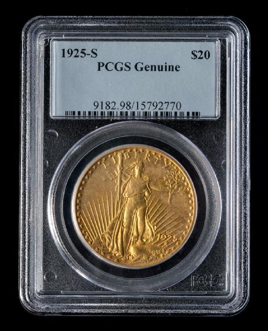 A United States 1925-S Saint-Gaudens $20 Gold Coin - 3