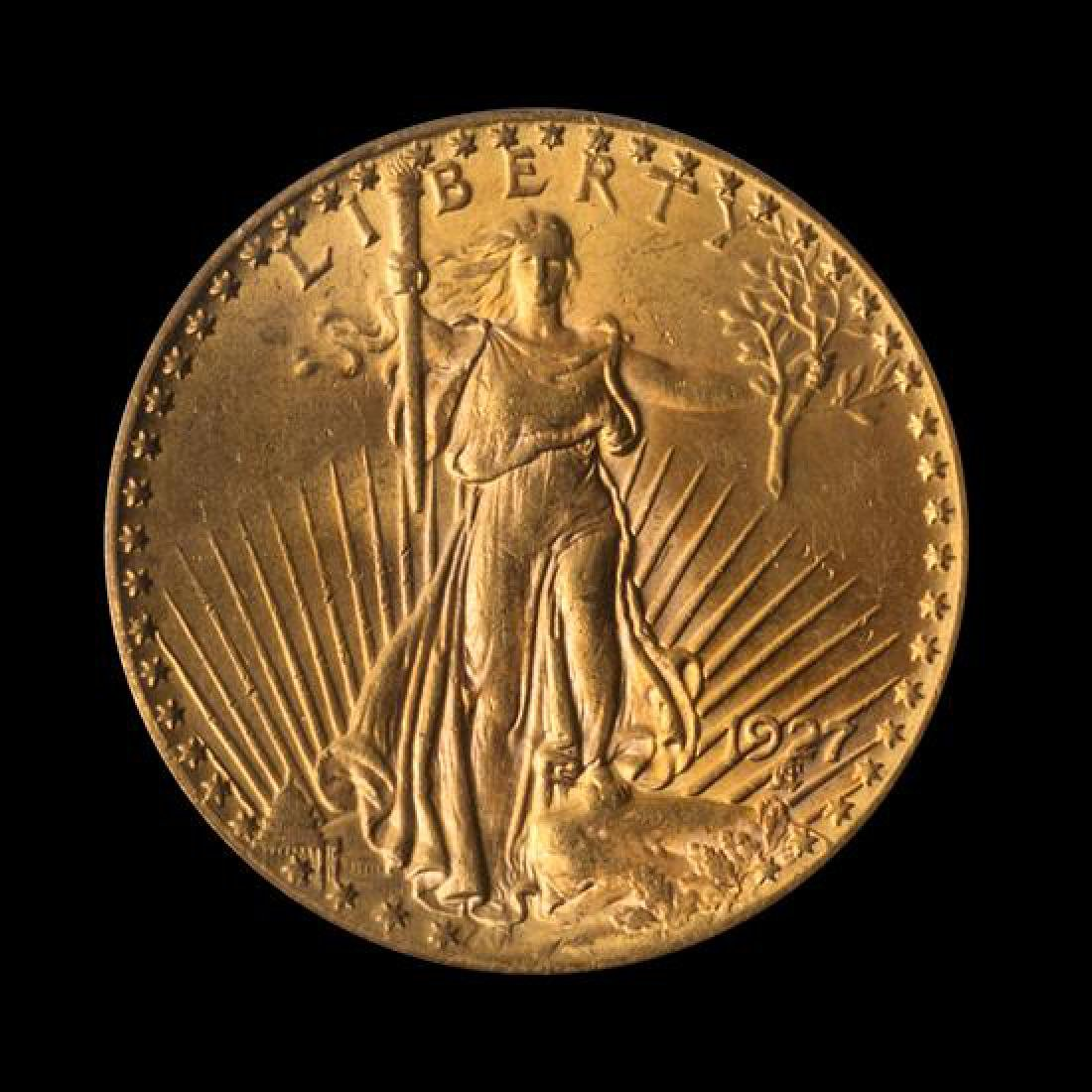 A United States 1927 Saint-Gaudens $20 Gold Coin