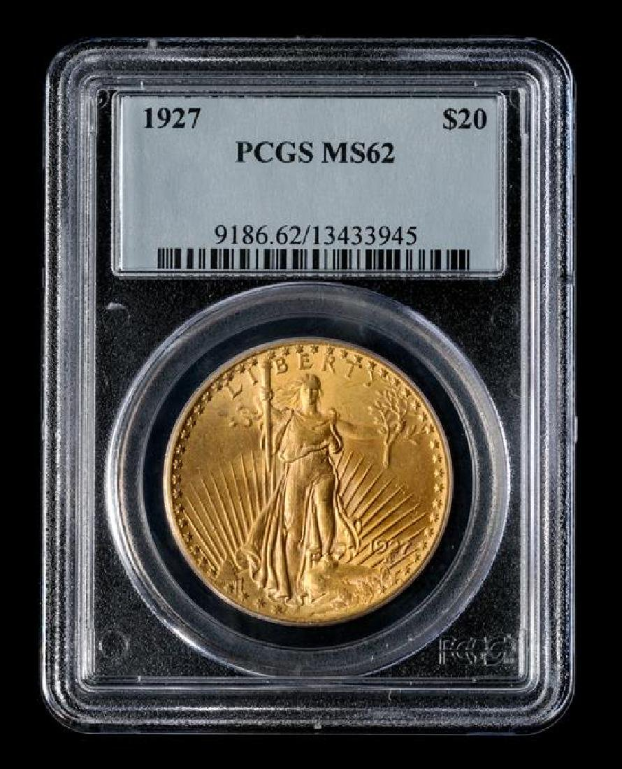 A United States 1927 Saint-Gaudens $20 Gold Coin - 2