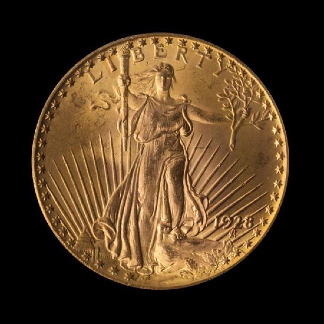 A United States 1928 Saint-Gaudens $20 Gold Coin