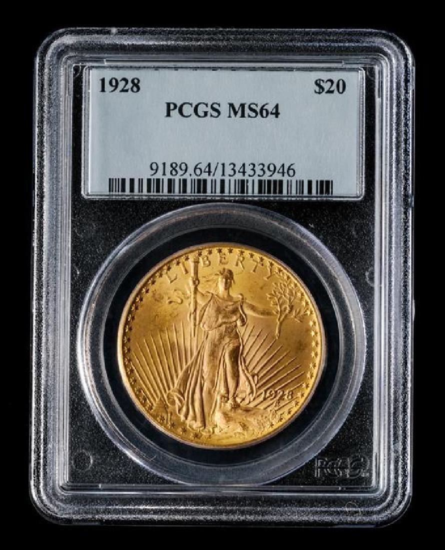 A United States 1928 Saint-Gaudens $20 Gold Coin - 3